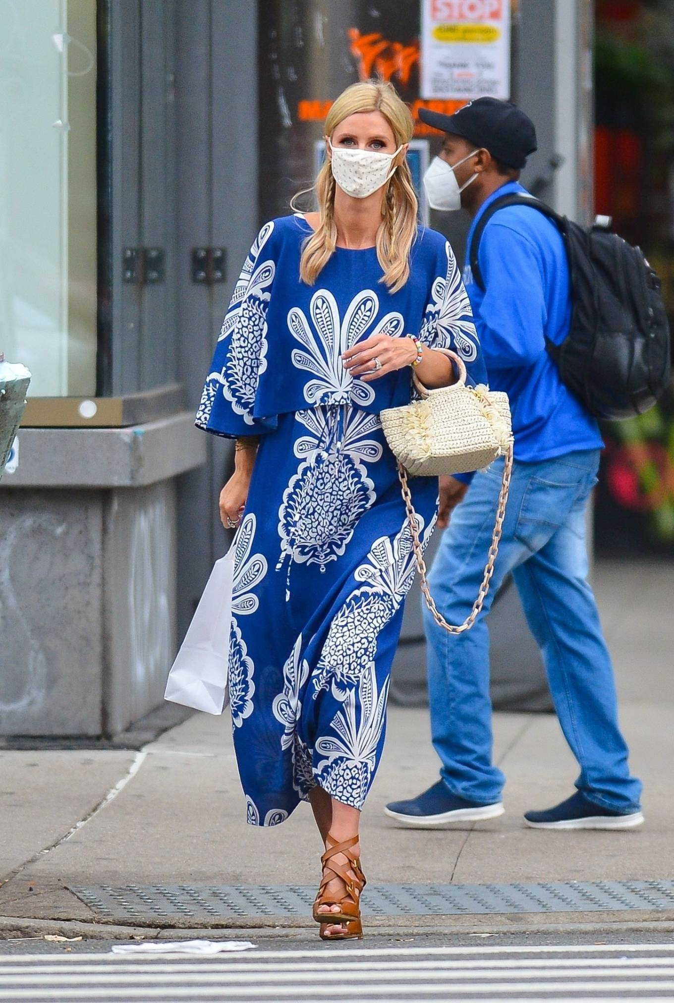Nicky Hilton - In blue dress shopping in New York