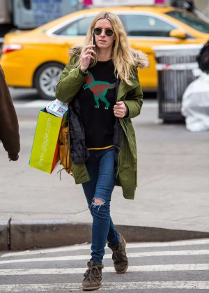 Nicky Hilton in Coach Sweater While Shopping in NY