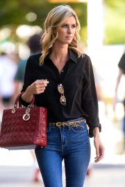Nicky Hilton - In denim seen out in New York City