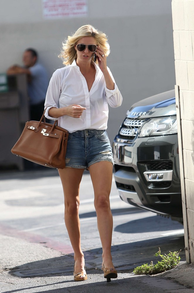 Nicky Hilton in Denim Shorts out in Los Angeles