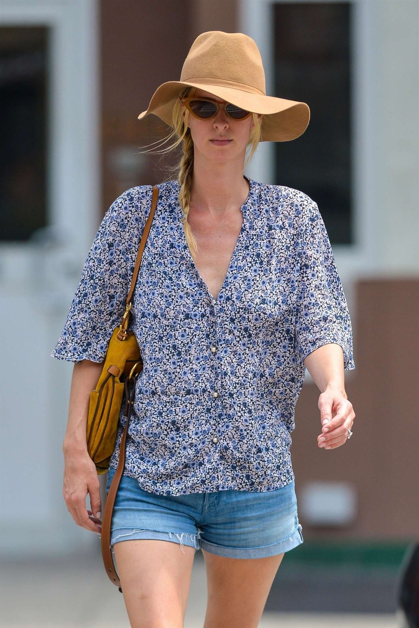 Nicky Hilton in Denim Shorts - Out in New York City