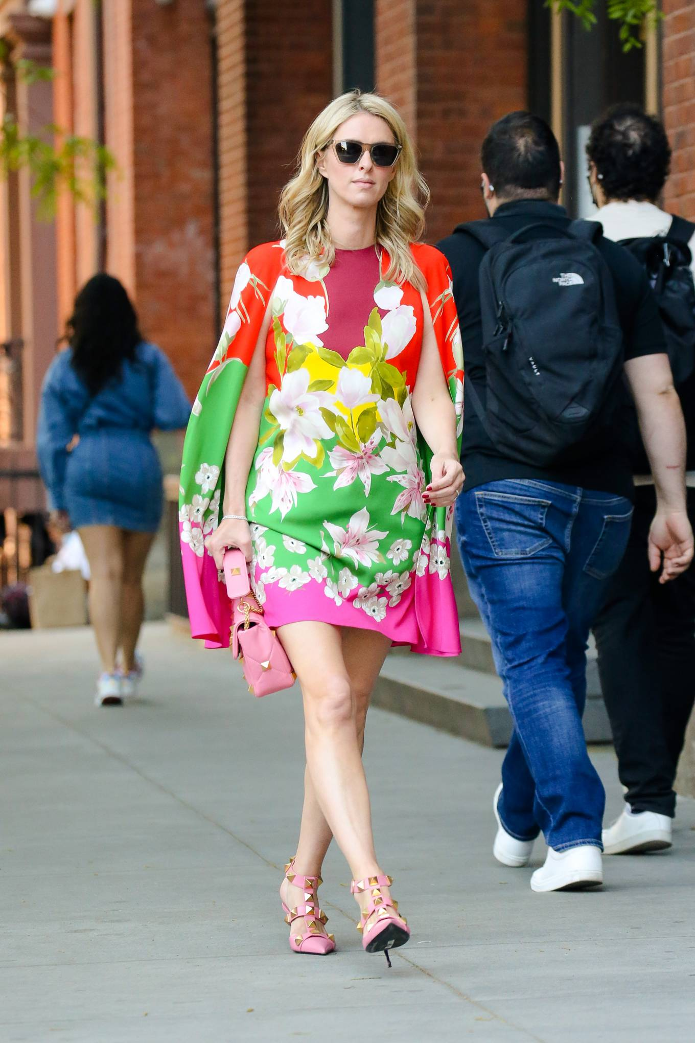 Nicky Hilton 2021 : Nicky Hilton – In floral dress out in New York-03
