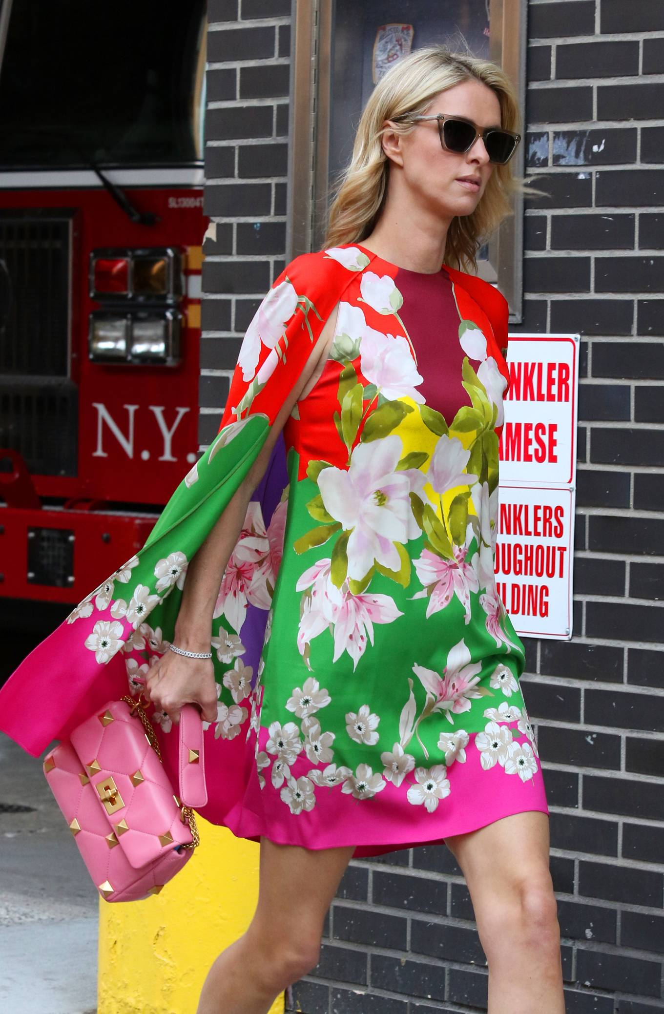 Nicky Hilton 2021 : Nicky Hilton – In floral dress out in New York-04