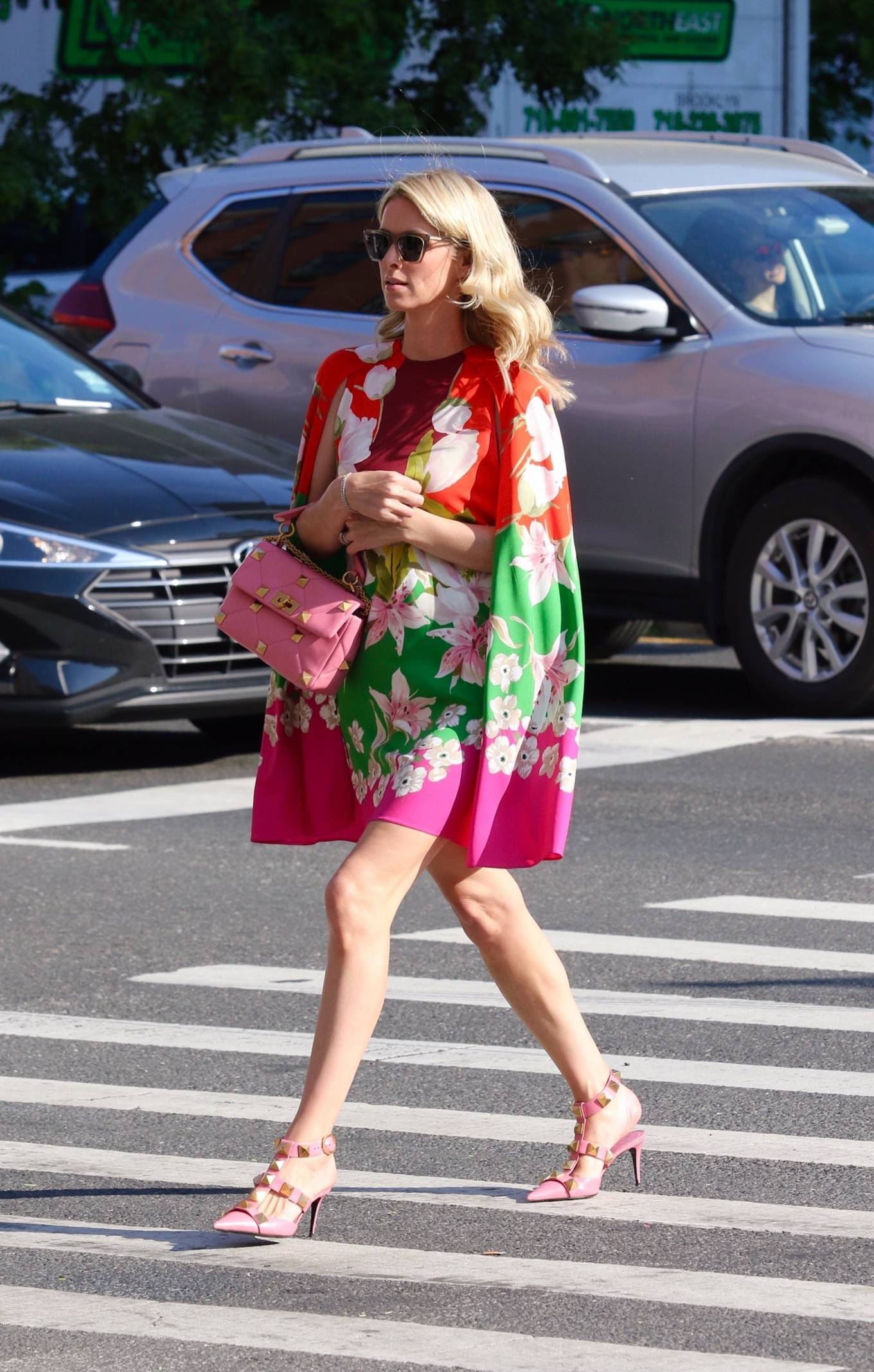 Nicky Hilton 2021 : Nicky Hilton – In floral dress out in New York-06