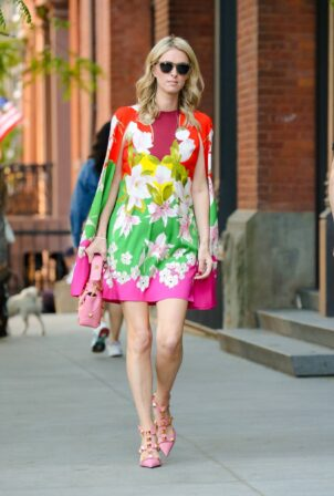 Nicky Hilton - In floral dress out in New York