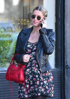 Nicky Hilton in Floral Mini Dress out in New York