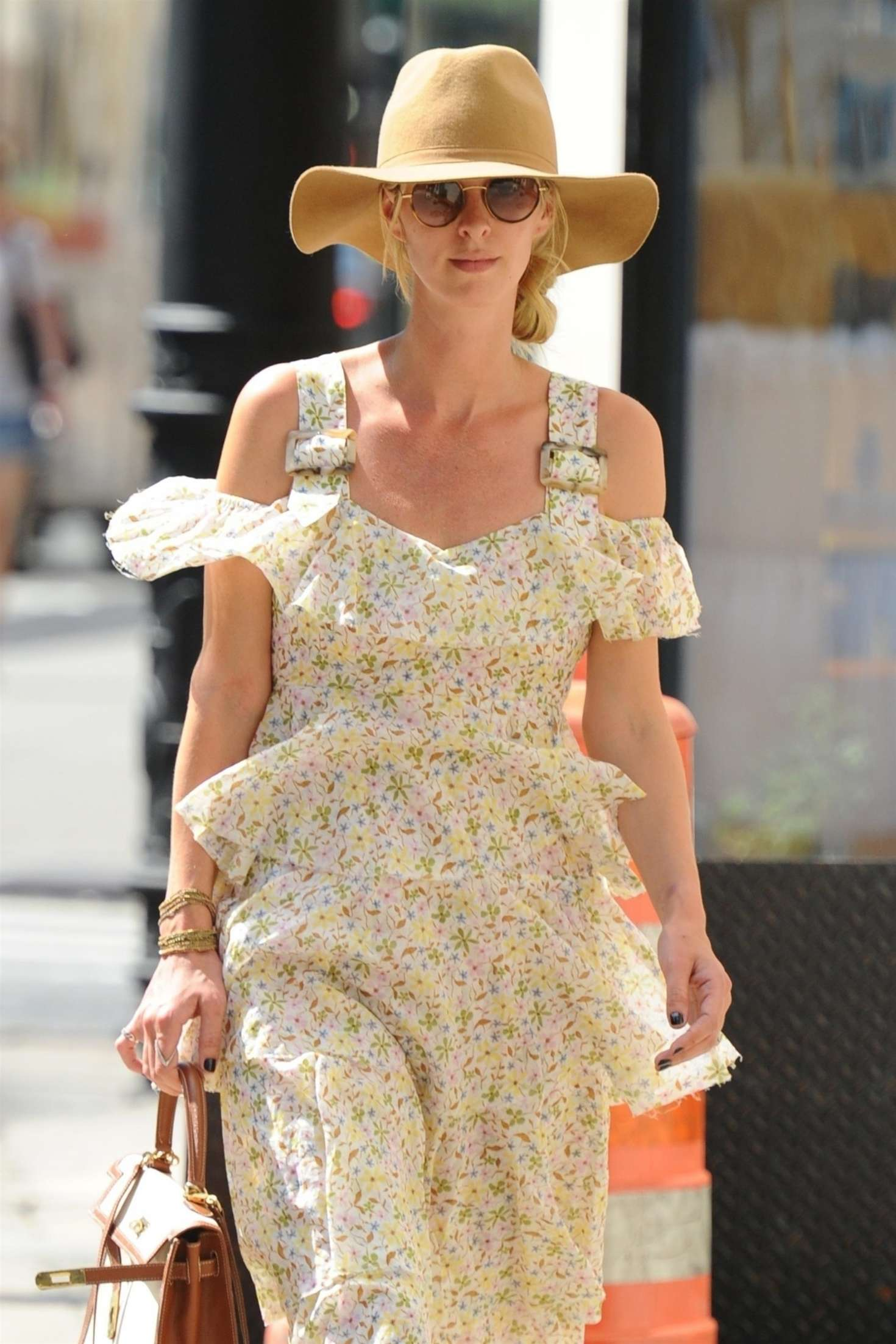 Nicky Hilton in Floral Print Dress - Out in New York City