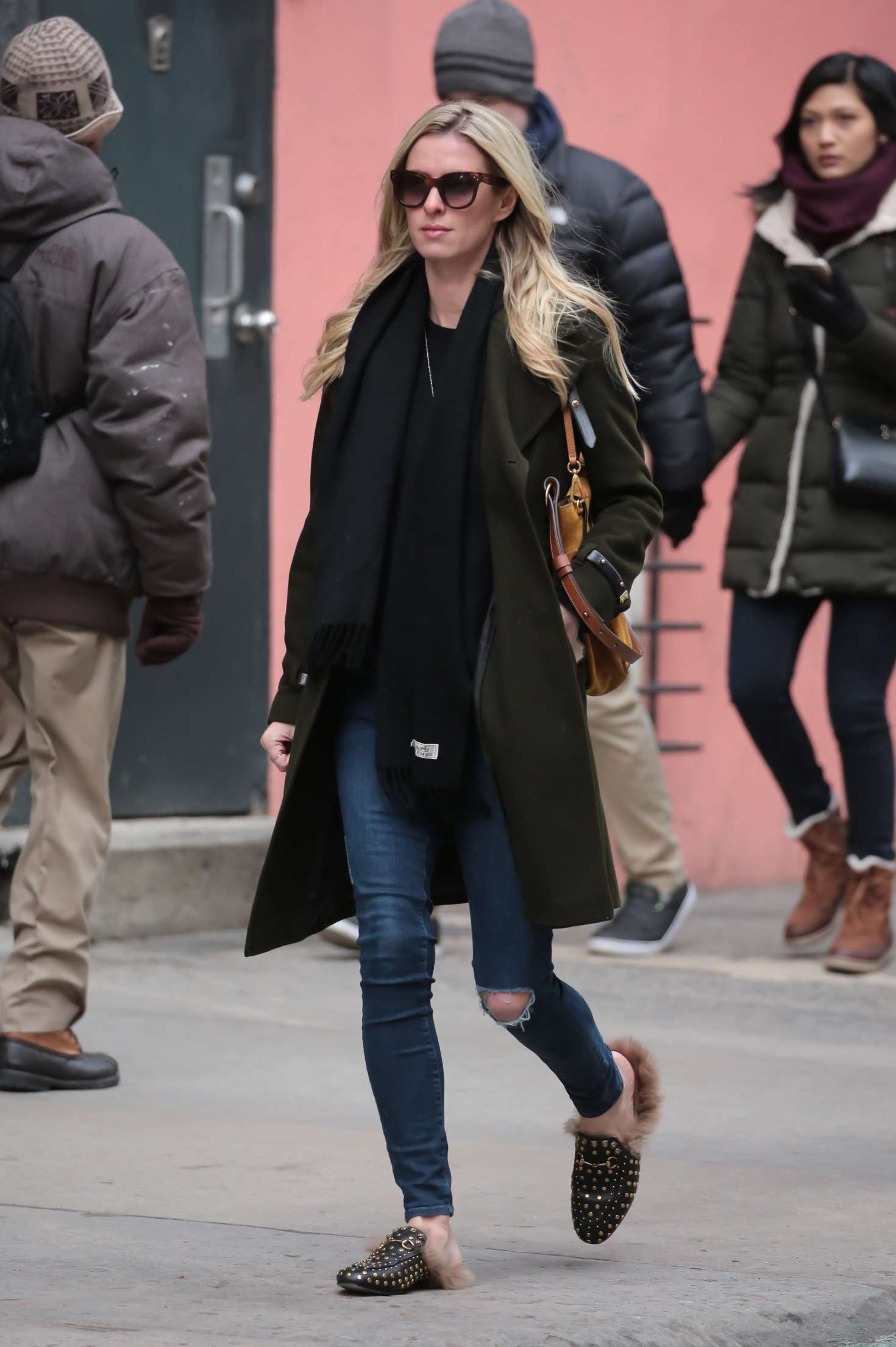 Nicky Hilton 2017 : Nicky Hilton in Jeans and Long coat -05
