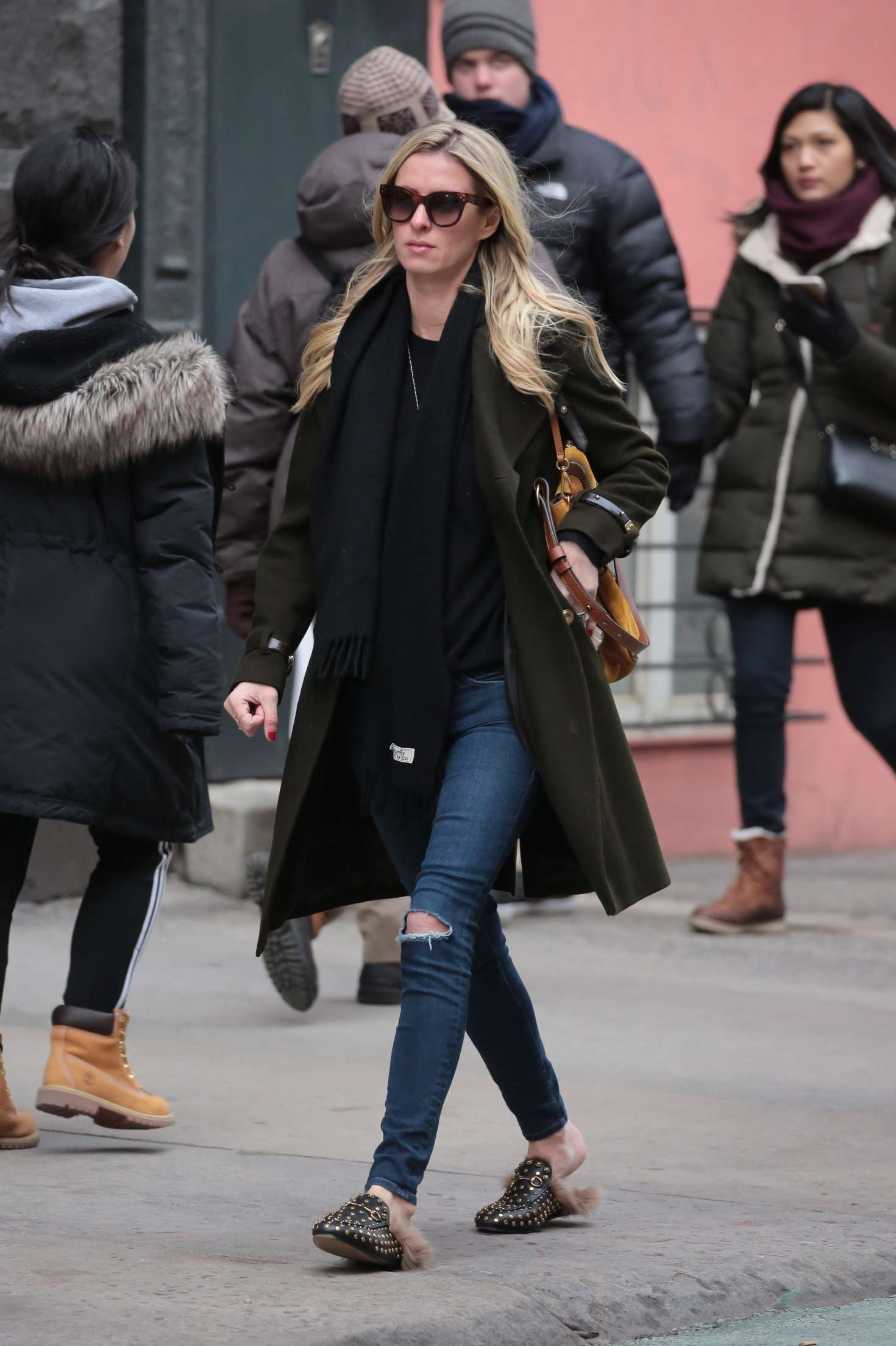 Nicky Hilton 2017 : Nicky Hilton in Jeans and Long coat -06