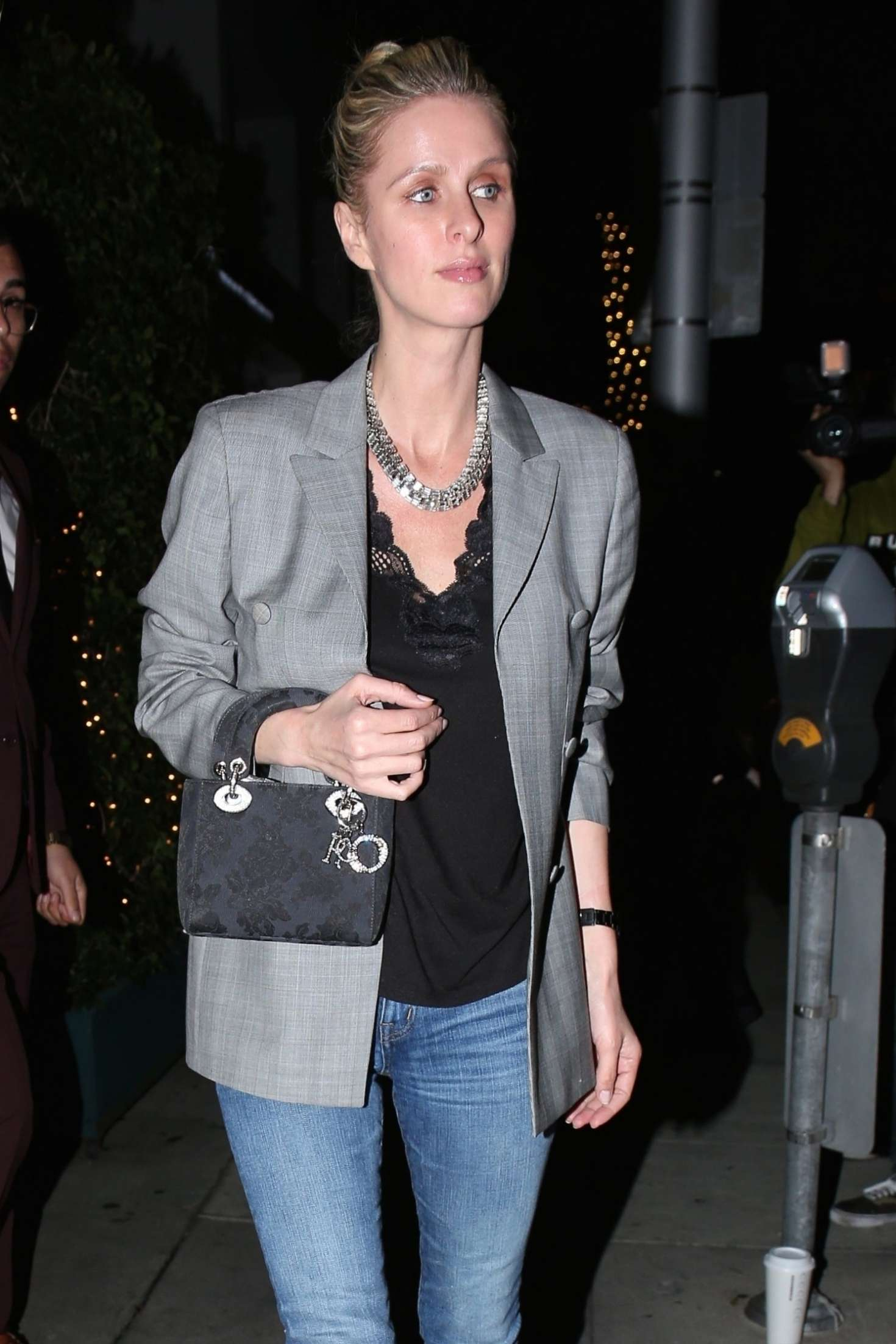 Nicky Hilton in Jeans at Mr Chow in Beverly Hills