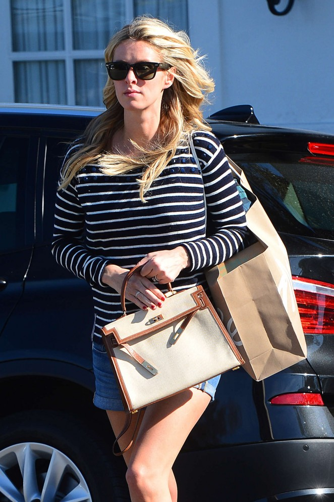 Nicky Hilton in Jeans Shorts Out in West Hollywood