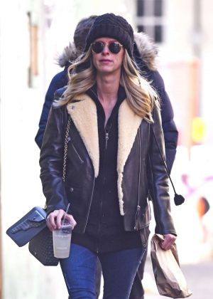 Nicky Hilton in Leather Jacket and Jeans out to lunch in New York City
