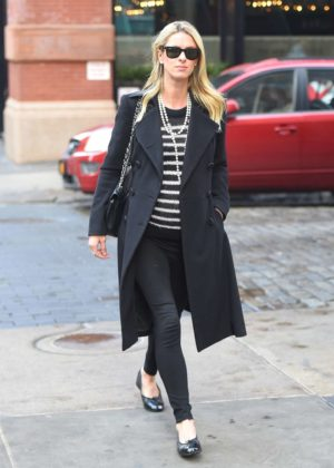 Nicky Hilton in Long Coat - Out for a stroll in New York