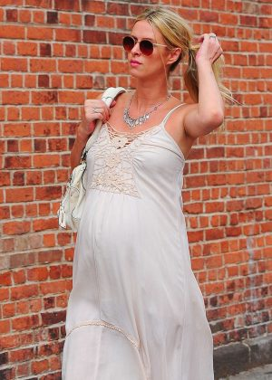 Nicky Hilton in Long Dress out in New York
