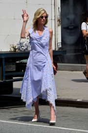 Nicky Hilton in Long Dress - Out in New York