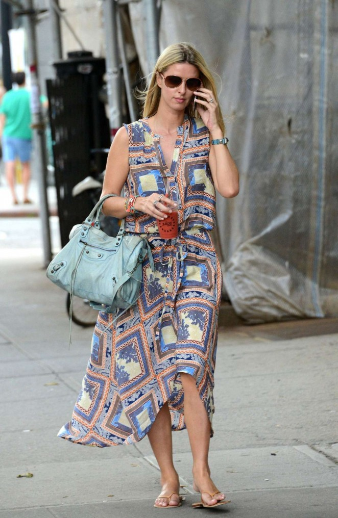 Nicky Hilton in Long Dress out in NYC