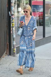 Nicky Hilton in Long Summer Dress - Out in New York