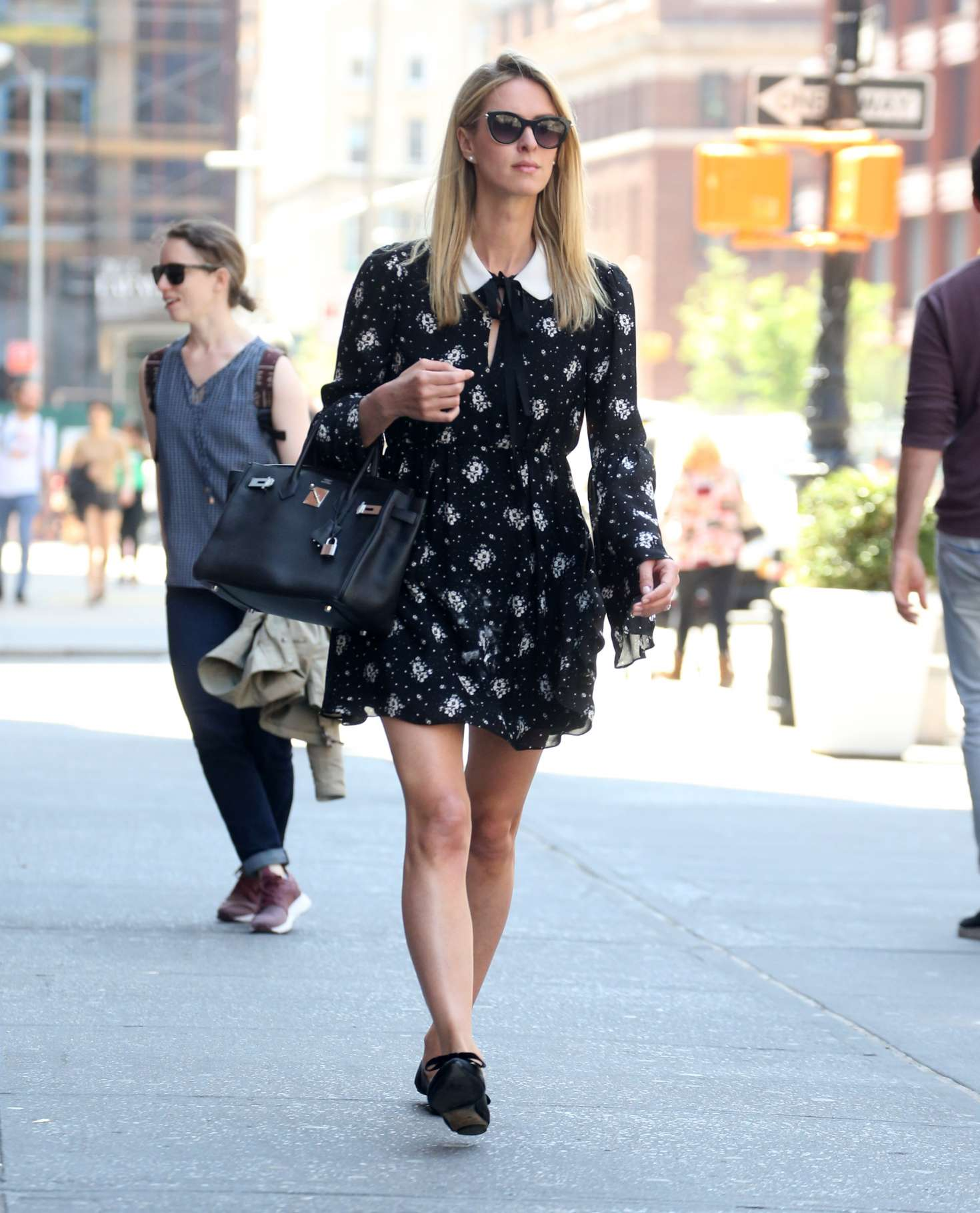 Nicky Hilton in Mini Dress out in NYC