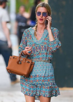 Nicky Hilton in Mini Dress - Out in the East Village