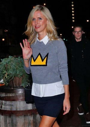 Nicky Hilton in Mini Skirt Night Out in New York