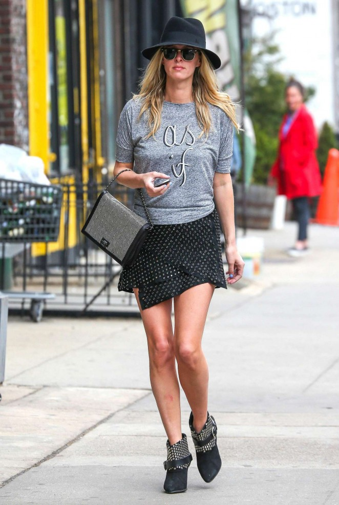 Nicky Hilton in Mini Skirt out in New York