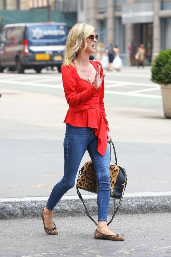 Nicky Hilton 2019 : Nicky Hilton in Red – Out in New York-03