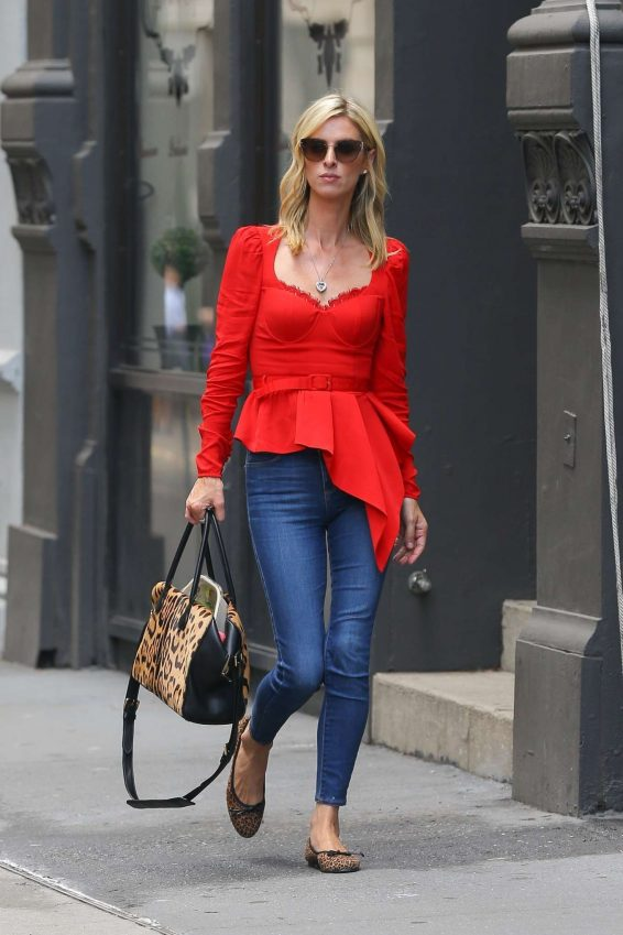 Nicky Hilton 2019 : Nicky Hilton in Red – Out in New York-12