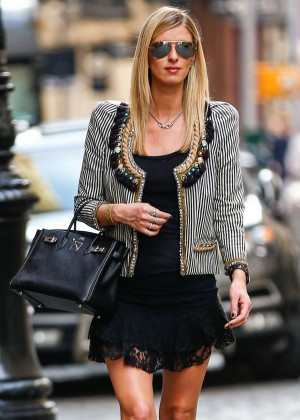 Nicky Hilton in Short Black Dress out in New York