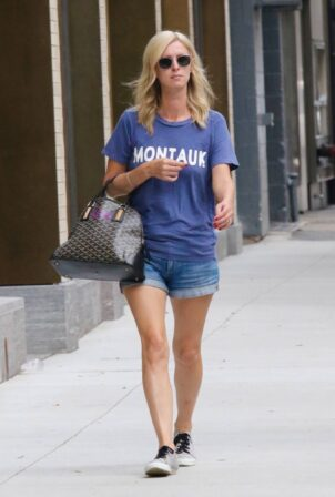 Nicky Hilton - In short shorts while out in Manhattan's SoHo area