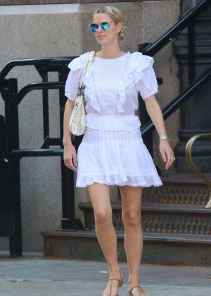 Nicky Hilton in Shorts Dress out in New York