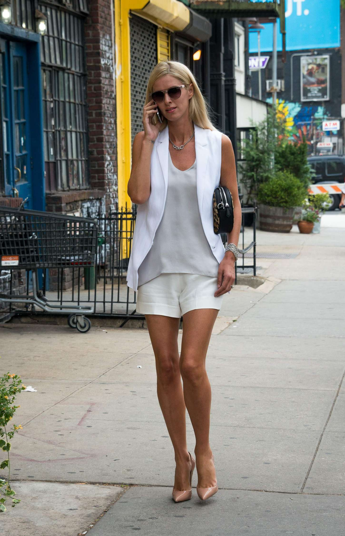 Nicky Hilton in Shorts out in New York