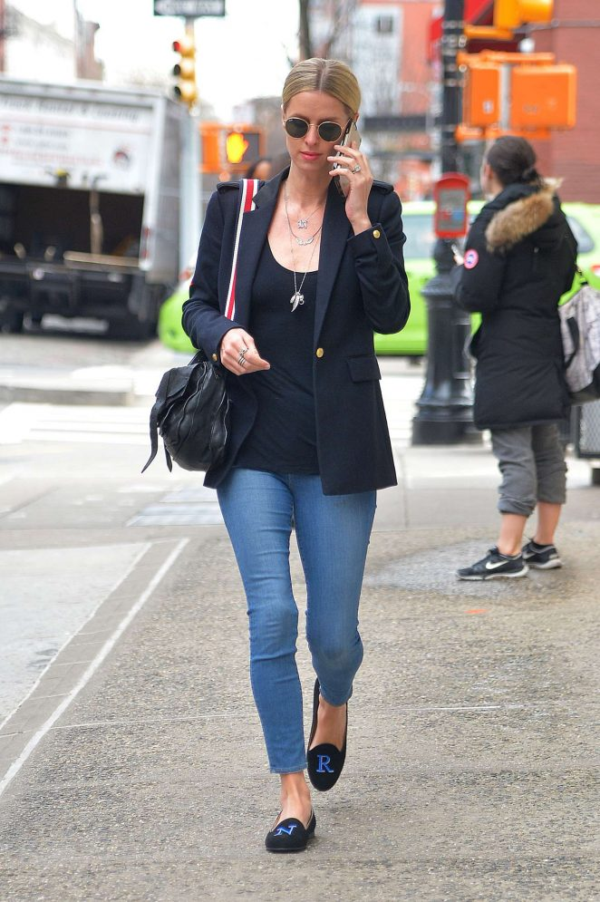 Nicky Hilton in Skinny Jeans out in Manhattan