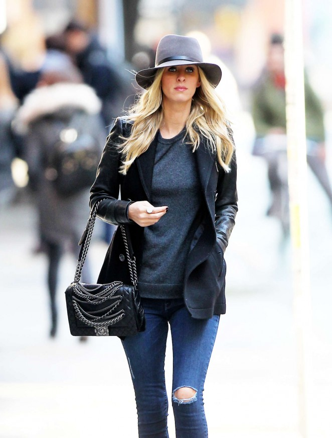 Nicky Hilton in Skinny Jeans out in NYC