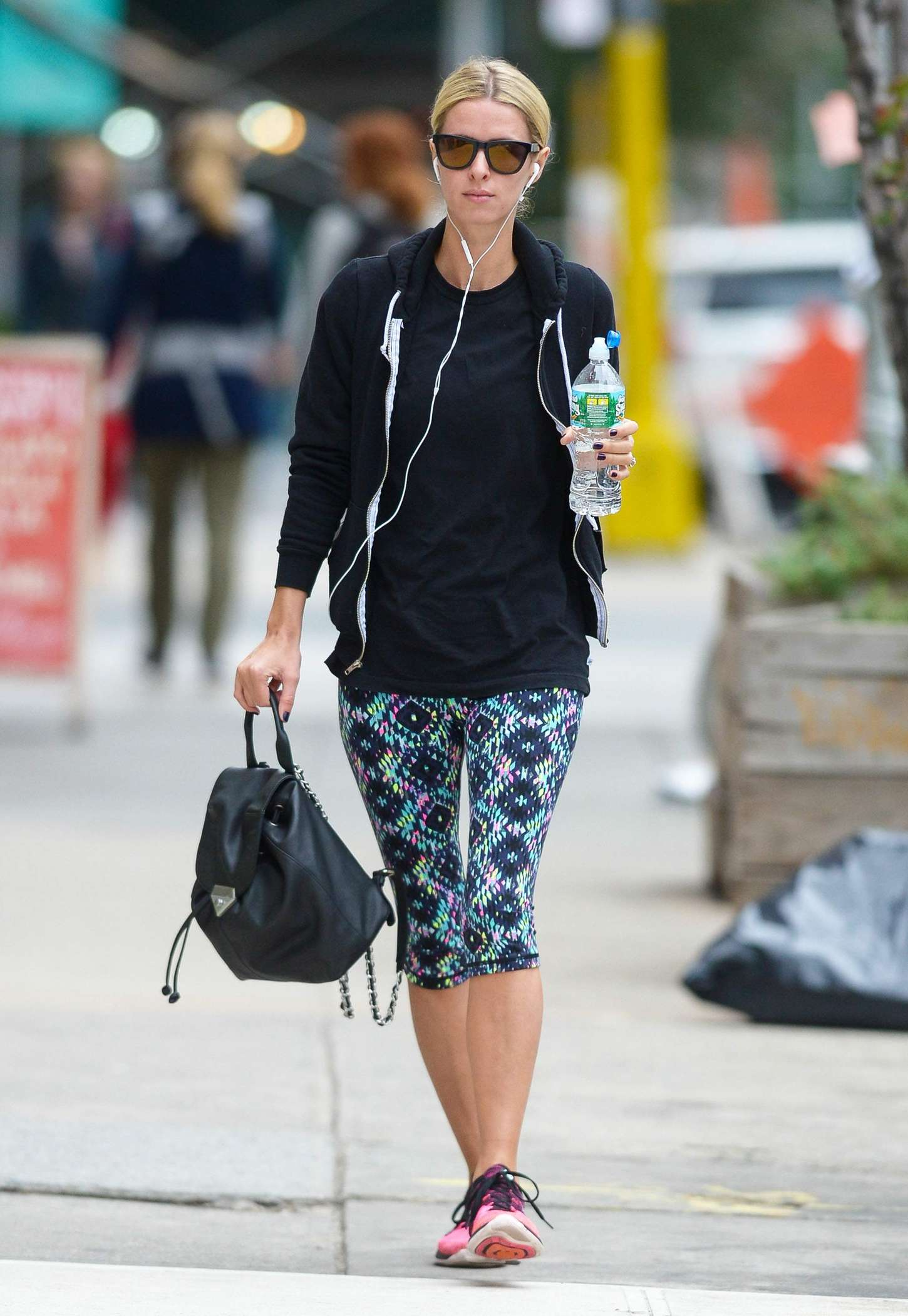 Nicky Hilton in Spandex out in New York City