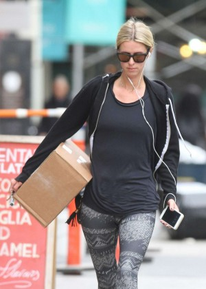 Nicky Hilton in Spandex out in NY