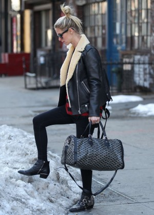 Nicky Hilton in Tights out in NYC