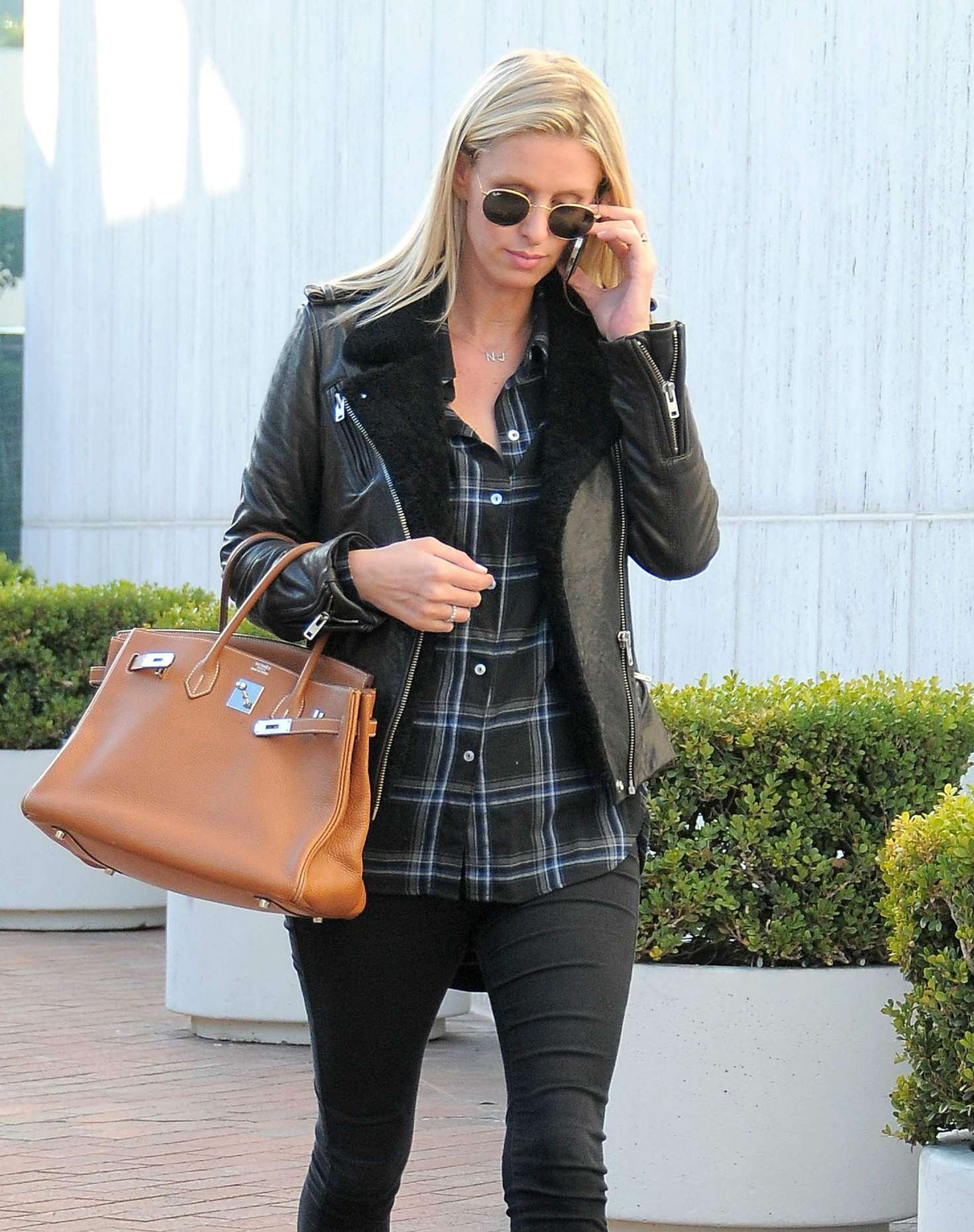 Nicky Hilton in Tights Shopping in Beverly Hills