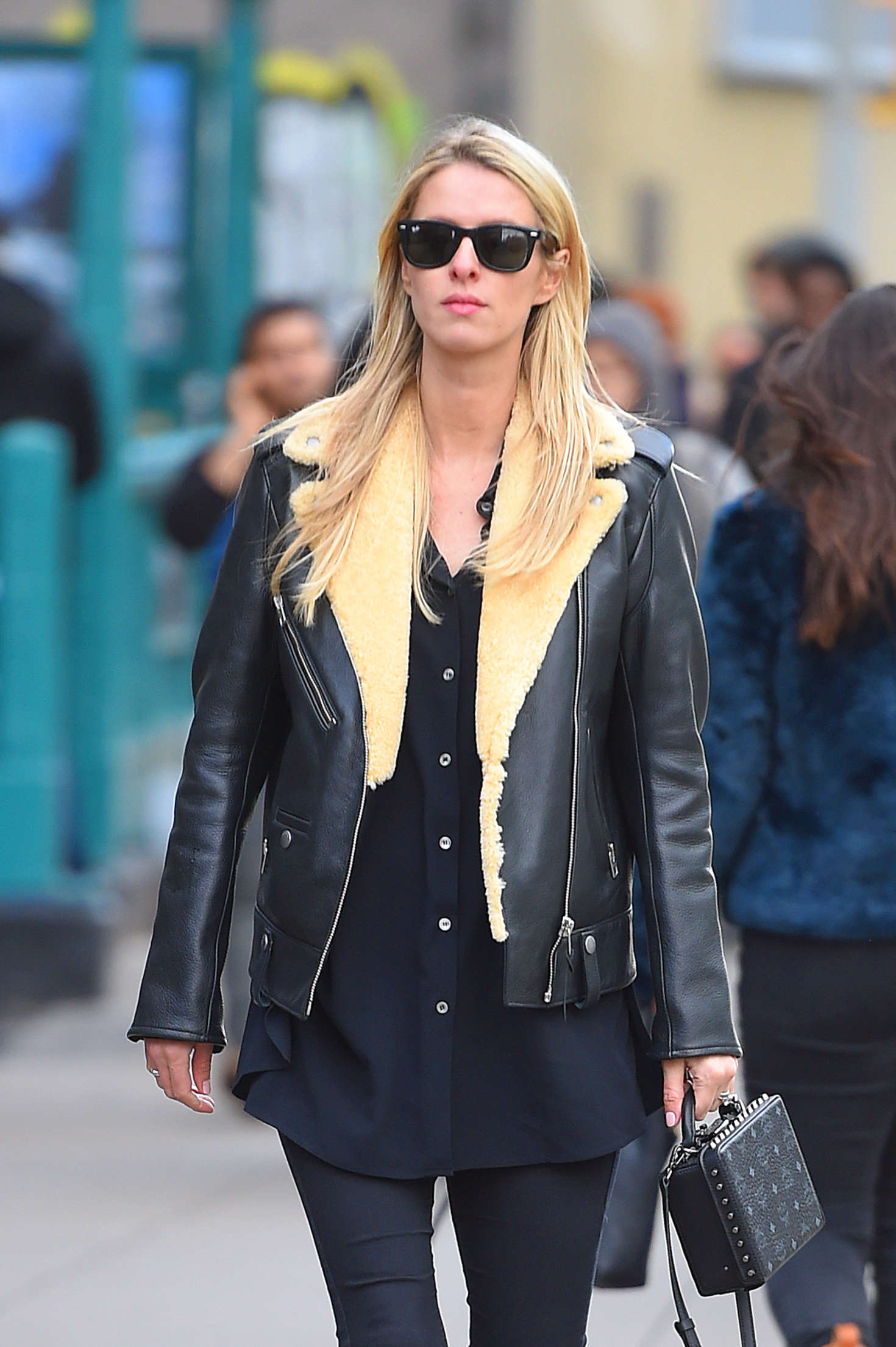 Nicky Hilton in Tights Shopping in New York