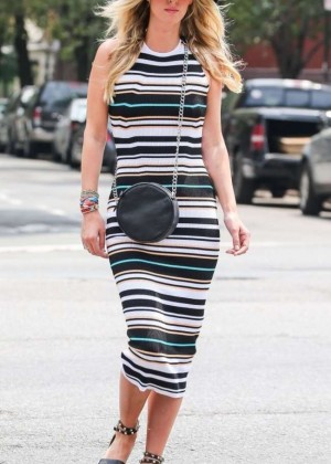 Nicky Hilton in Tigth Dress out in NYC