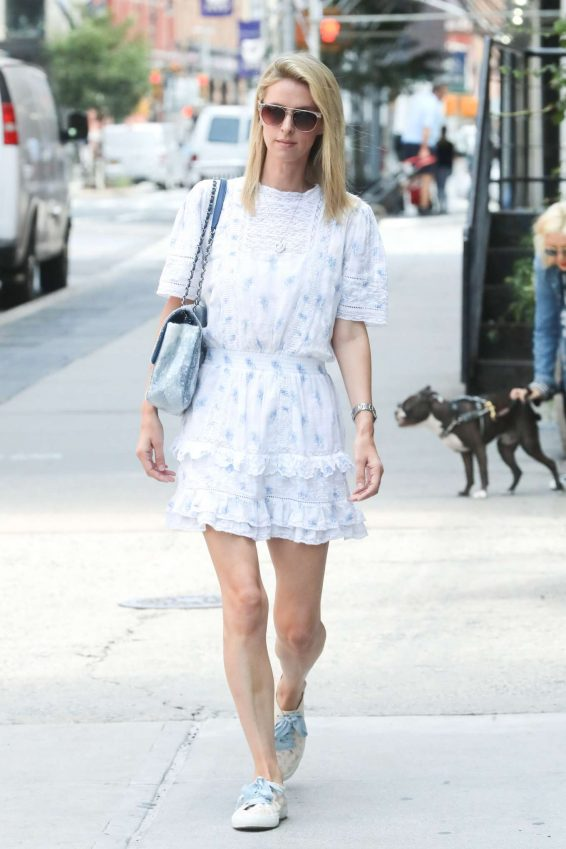 Nicky Hilton 2019 : Nicky Hilton in White Dress – Out in New York-04