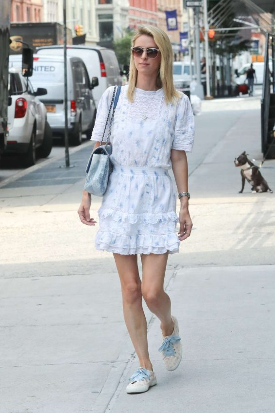 Nicky Hilton 2019 : Nicky Hilton in White Dress – Out in New York-05