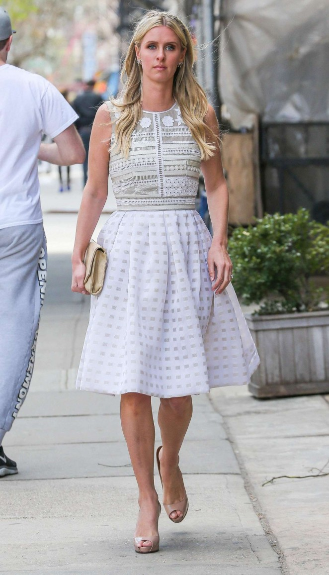 Nicky Hilton in White Dress -05