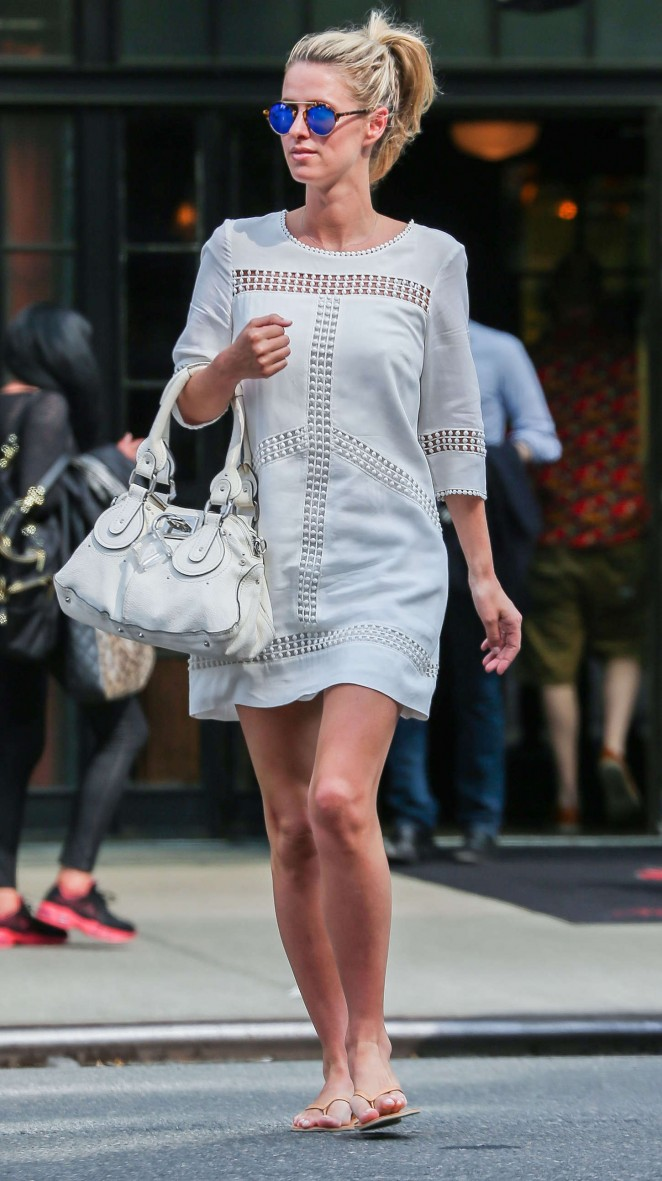 Nicky Hilton in White Mini Dress out in NY
