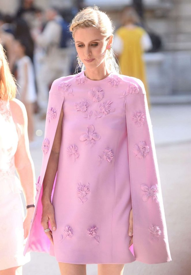 Nicky Hilton - Leaves the Valentino Fashion Show 2017 in Paris