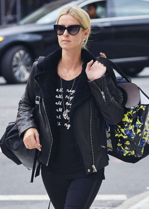 Nicky Hilton in Tights Leaving her residence in NY