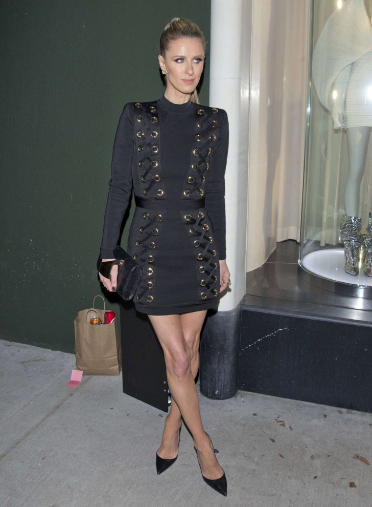 Nicky Hilton - Leaving the Balmain Store in West Hollywood