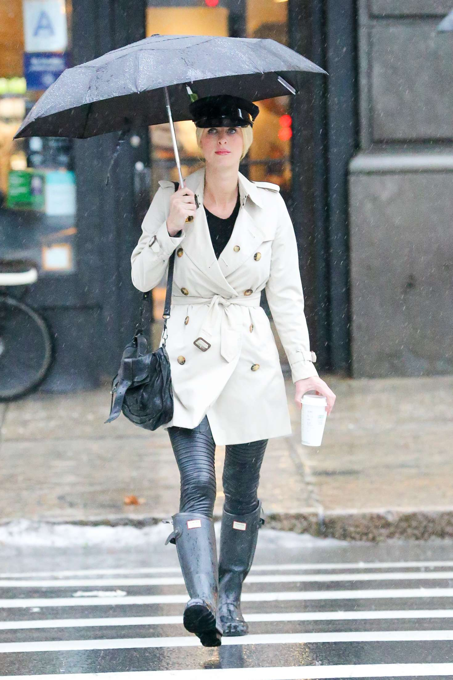 Nicky Hilton out and about in a rainy day in NYC