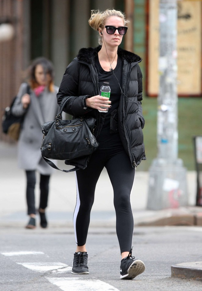 Nicky Hilton in Leggings Out in Beverly Hills