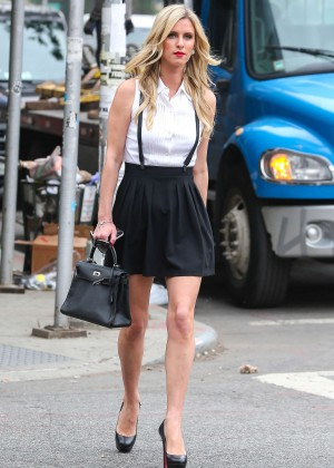 Nicky Hilton in Mini Skirt out in New York City