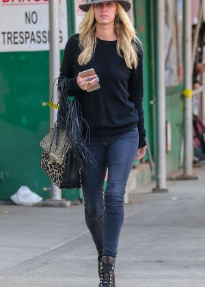 Nicky Hilton in Tight Jeans out in NY